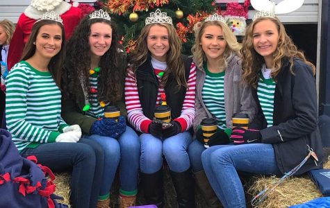 Homecoming court shows holiday spirit