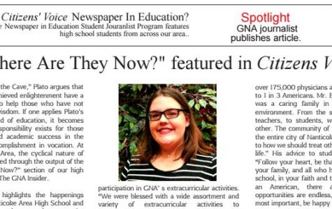 Sophomore Harley LaRue featured as student columnist in Citizens' Voice