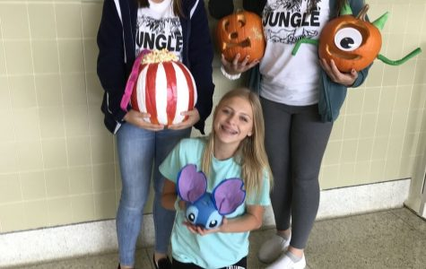 Mr. Fig's annual pumpkin carving and pumpkin seed contest
