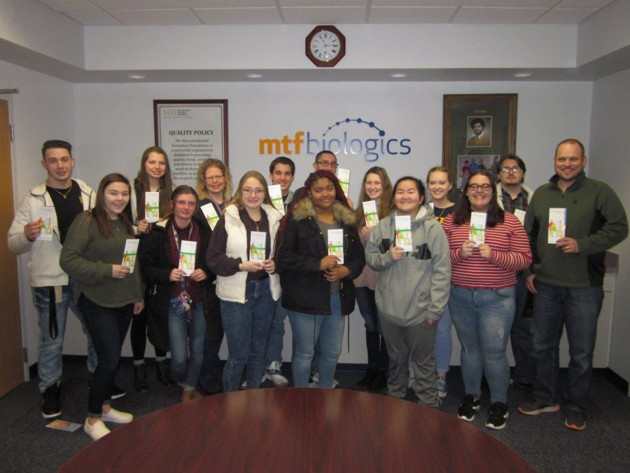 AP biology and career exploration students visit MTF Biologics