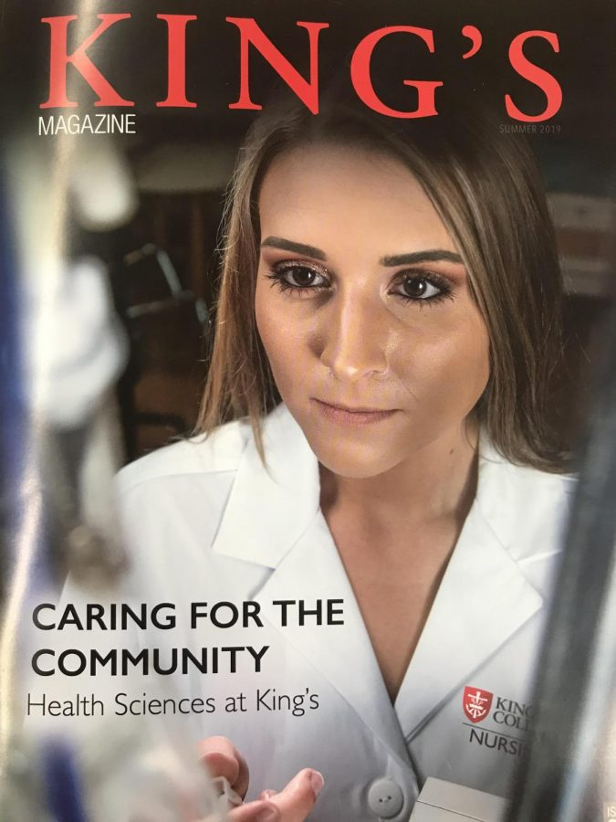 Former GNA student on cover of King's Magazine