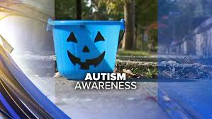 Raising Autism Awareness with Blue Halloween Bucket