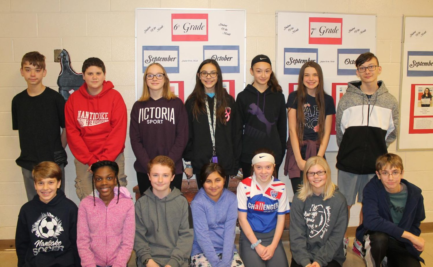 Nanticoke students that got published into Young Writers' Survival Sagas: Mission Catastrophe Contest.