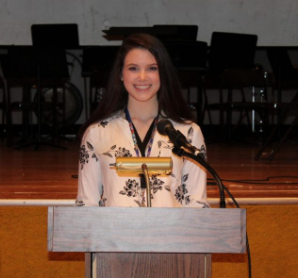 Taylor Bartle scored the highest on the math test, allowing her to receive the scholarship.