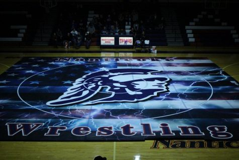 New Trojan Wrestling mat
