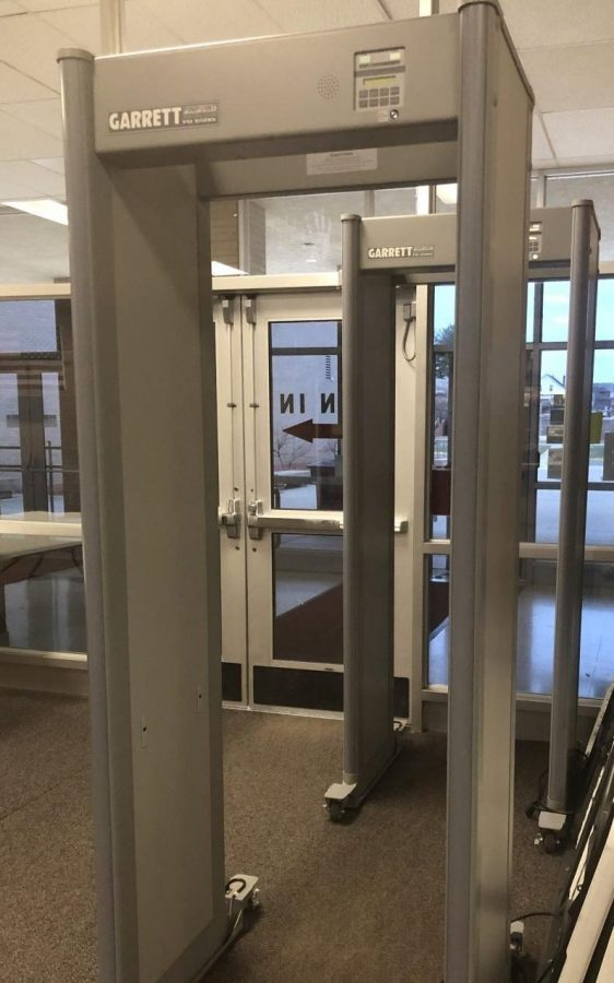 GNA previously used safety grants to purchase these metal detectors which students are required to pass through so as to secure the building and all of the students in it.