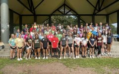 The 2021-2022 JLWB Class at Kirby Park for orientation.
