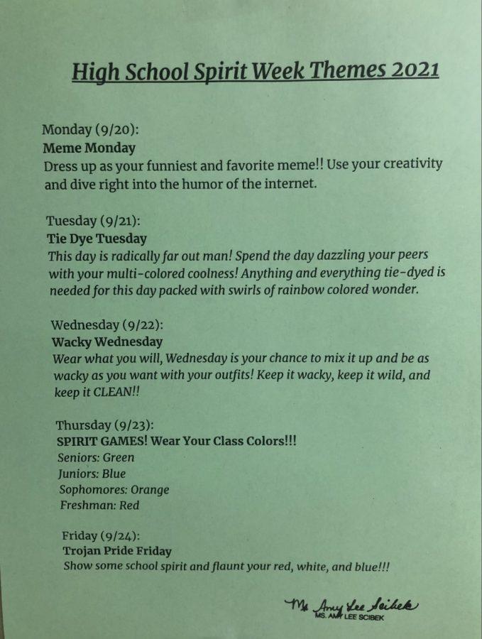 GNA+Spirit+Week+schedule