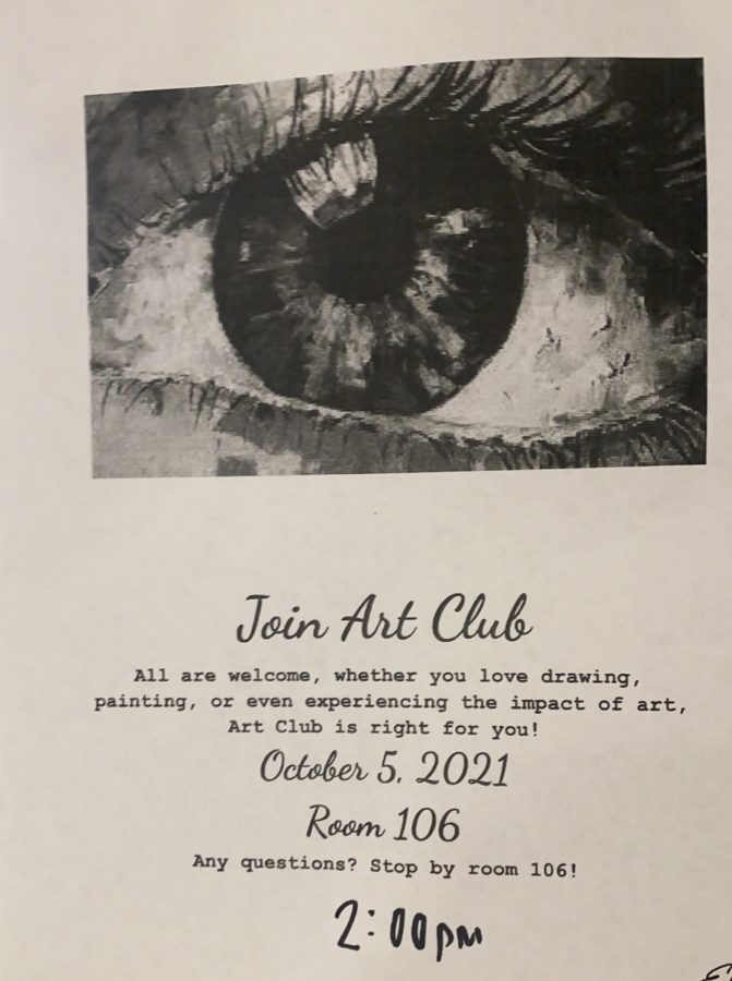Join the Art Club October 5th!