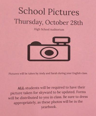School pictures announced.