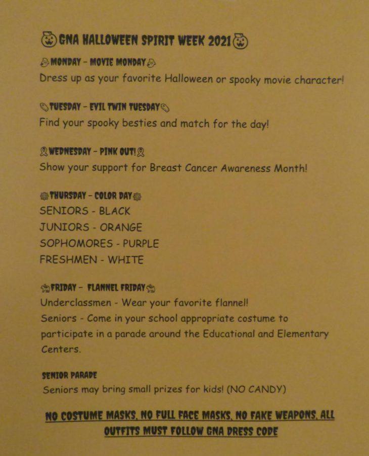 Halloween Spirit Week at GNA.